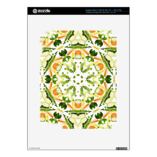 Good karma and well being from a healthy diet 3 decal for iPad 3