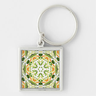 Good karma and well being from a healthy diet 3 keychain