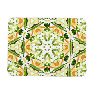 Good karma and well being from a healthy diet 3 rectangle magnet