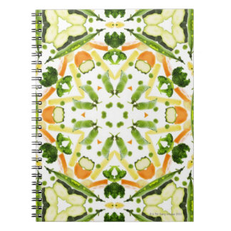 Good karma and well being from a healthy diet 3 spiral notebook