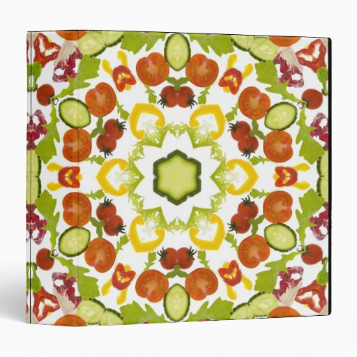 Good karma and well being from a healthy diet vinyl binder