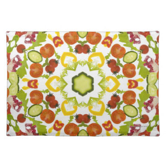Good karma and well being from a healthy diet cloth placemat
