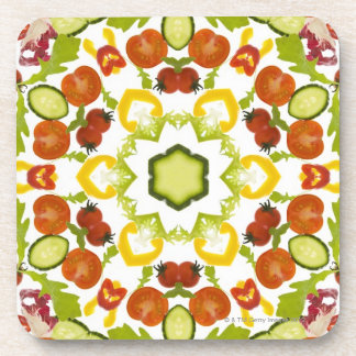 Good karma and well being from a healthy diet beverage coasters