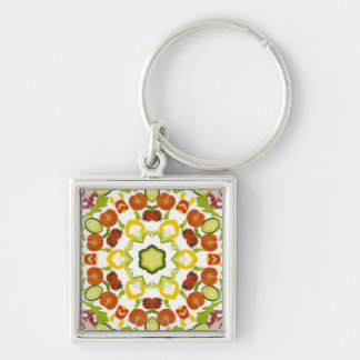 Good karma and well being from a healthy diet keychains