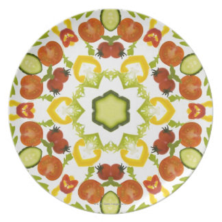 Good karma and well being from a healthy diet melamine plate