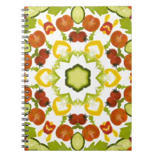 Good karma and well being from a healthy diet spiral notebooks