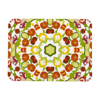 Good karma and well being from a healthy diet rectangular magnets