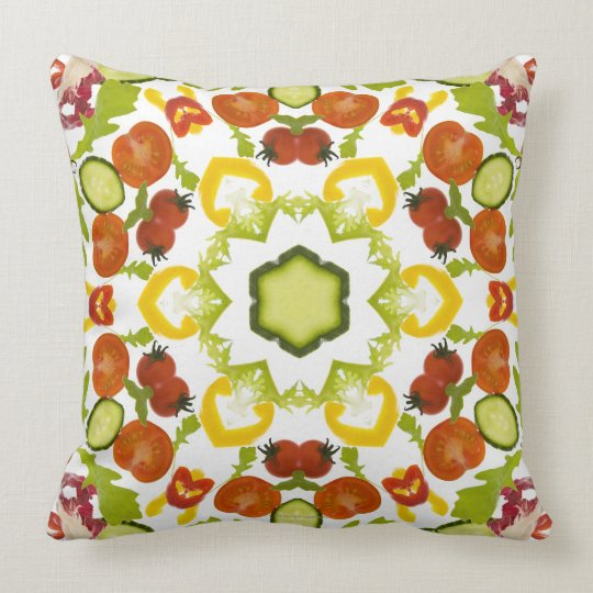 Good karma and well being from a healthy diet throw pillow