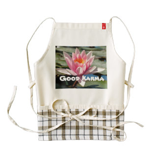 Good Karma Apron with Pink Waterlily
