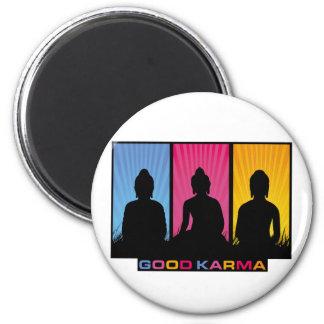 Good Karma Buddhas Fridge Magnet