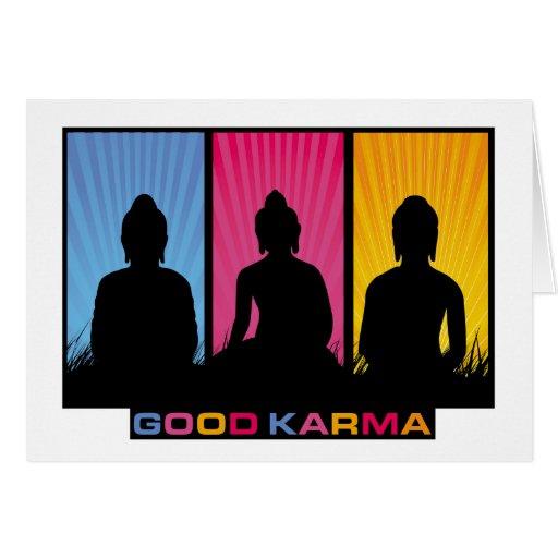 Good Karma Buddhas Greeting Cards