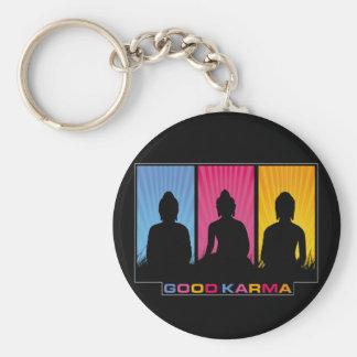 Good Karma Buddhas Keychain
