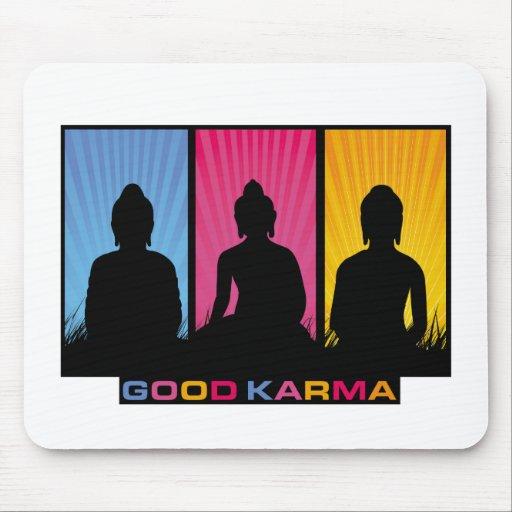 Good Karma Buddhas Mouse Pad