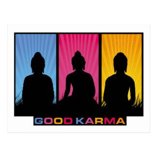 Good Karma Buddhas Postcard