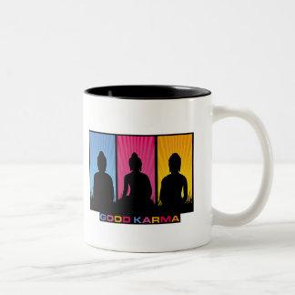 Good Karma Buddhas Two-Tone Coffee Mug