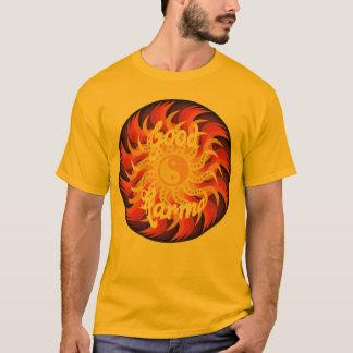 good karma yin yang sun T-Shirt