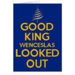 Good King Wenceslas Blue Greeting Cards