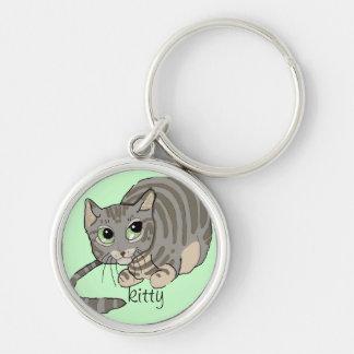 Good Kitty Grey Tiger Cat~keychain Keychain