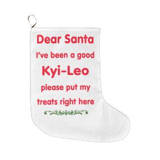 good kyi-leo large christmas stocking