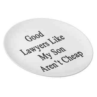 Good Lawyers Like My Son Aren't Cheap Plates