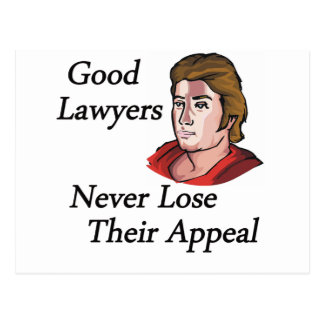 Good lawyers man postcard