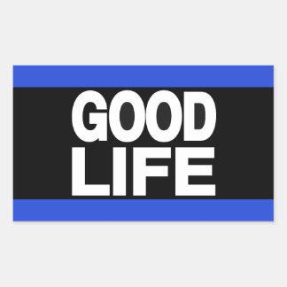 Good Life Long Blue Rectangular Sticker