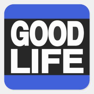Good Life Long Blue Square Sticker