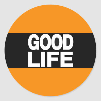 Good Life Long Orange Classic Round Sticker