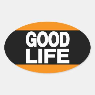 Good Life Long Orange Oval Sticker