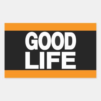 Good Life Long Orange Rectangular Sticker