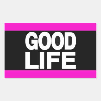 Good Life Long Pink Rectangular Sticker