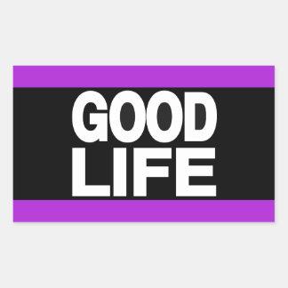 Good Life Long Purple Rectangular Sticker