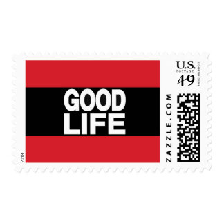 Good Life Long Red Postage Stamp
