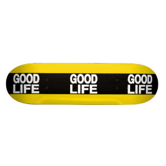 Good Life Long Yellow Skateboard Deck