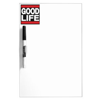 Good Life Red Dry Erase Board