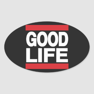 Good Life Red Oval Sticker