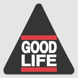 Good Life Red Triangle Sticker