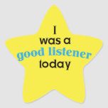 Good Listener Teacher Sticker
