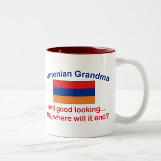 Good Lkg Armenian Grandma Two-Tone Coffee Mug