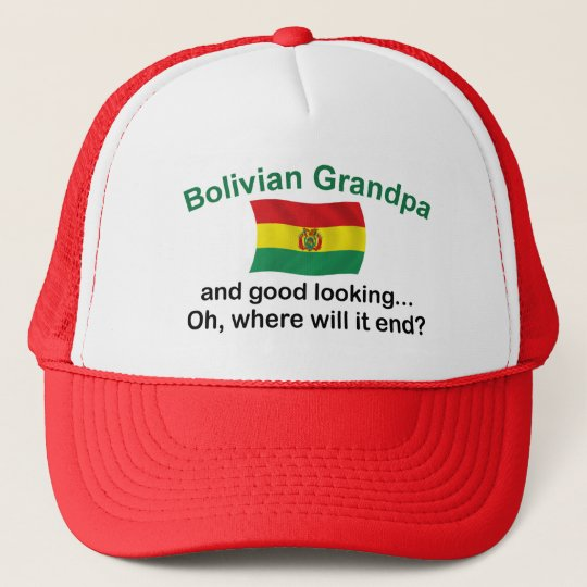Good Lkg Bolivian Grandpa Trucker Hat