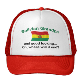 Good Lkg Bolivian Grandpa Trucker Hat