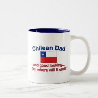 Good Lkg Chilean Dad Two-Tone Coffee Mug