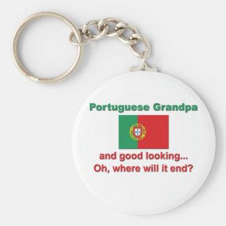 Good Lkg Portuguese Grandpa Basic Round Button Keychain