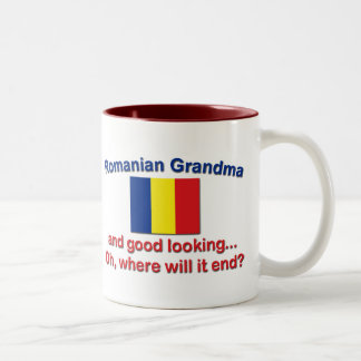 Good Lkg Romanian grandma Two-Tone Coffee Mug