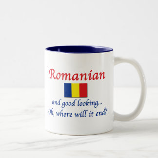 Good Lkg Romanian (women) Two-Tone Coffee Mug