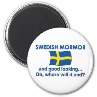 Good Lkg Swedish Mormor (Grandma) Fridge Magnet