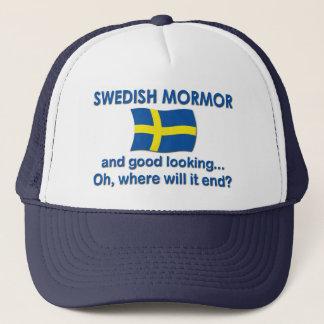 Good Lkg Swedish Mormor (Grandma) Trucker Hat