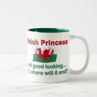 Good Lkg Welsh Princess Two-Tone Coffee Mug