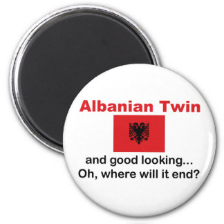 Good Looking Albanian Twin 2 Inch Round Magnet