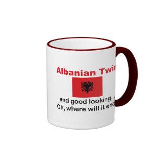 Good Looking Albanian Twin Ringer Coffee Mug